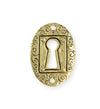 30.5x21.5mm Keyhole Coin [Green Girl Studios] - 10K Gold Antique (1pc)