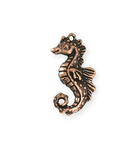 27x13.5mm Seahorse [Green Girl Studios] - Copper Antique (1pc)