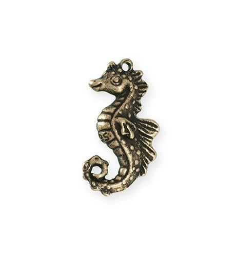 27x13.5mm Seahorse [Green Girl Studios] - Bronze Antique (1pc)