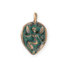 29x18.5mm Fairy Leaf [Green Girl Studios] - Copper Verdigris (1pc)