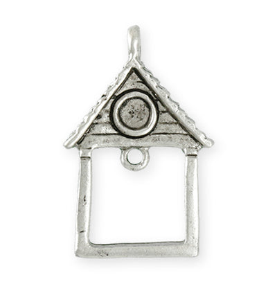 39X25.5mm Home Sweet Home [Green Girl Studios] - Sterling Silver Antique (1pc)