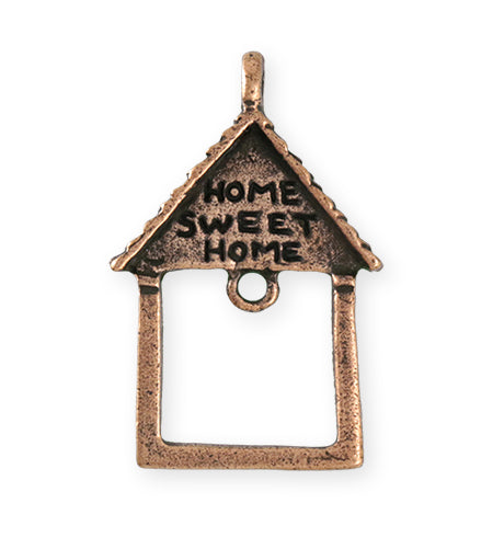 39X25.5mm Home Sweet Home [Green Girl Studios] - Copper Verdigris (1pc)
