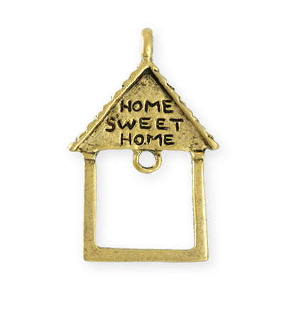 39X25.5mm Home Sweet Home [Green Girl Studios] - 10K Gold Antique (1pc)