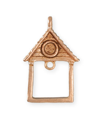 39X25.5mm Home Sweet Home [Green Girl Studios] - Rose Gold Antique (1pc)