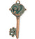 52x23mm Mermaid Key [Green Girl Studios] - Copper Verdigris (1pc)