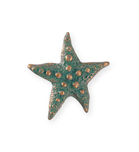 28.5x27.5mm Starfish Wish [Green Girl Studios] - Copper Verdigris (1pc)