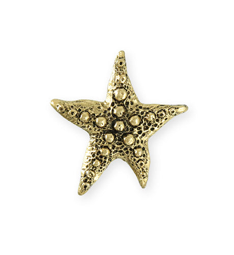 28.5x27.5mm Starfish Wish [Green Girl Studios] - 10K Gold Antique (1pc)