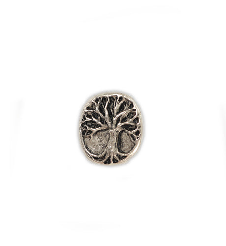 20x19mm, Tree Button [Green Girl Studios] - Pewter Antique (1pc)