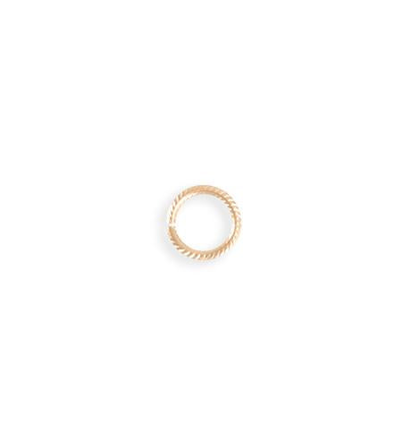 9mm Rib Cable Jump Ring - Rose Gold Plated (92 pcs)