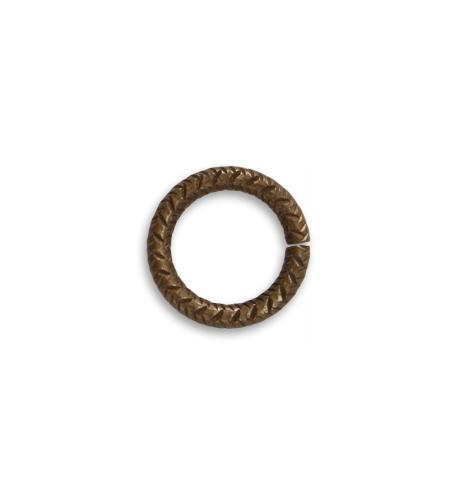 14.5mm Cross Hatch 11ga Jump Ring (30 pcs/pkg)