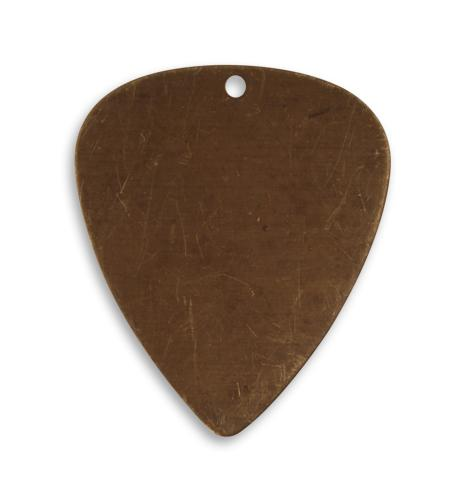 31x26.5mm Guitar Pick - Natural Brass (28pcs)