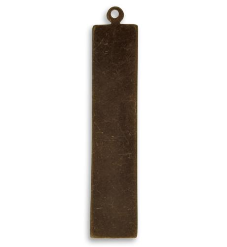 41x8.5mm Tag - Natural Brass (36 pcs)