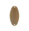 32.5x15.5mm Two Hole Oval Blank (10 pcs)