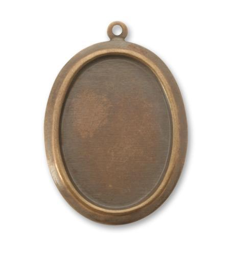 30x24mm Oval Bezel - Natural Brass (20 pcs)