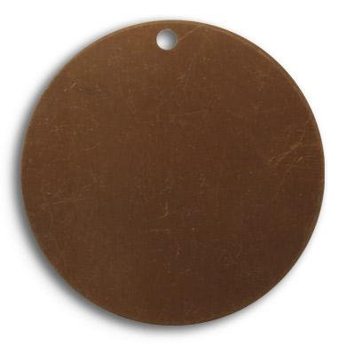 29mm Circle 24ga blank - Natural Brass (38 pcs)