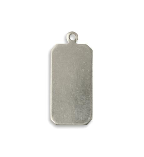 22x11mm Classic Tag - Solid Pewter (22 pcs)