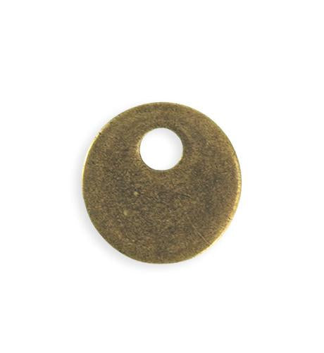 24mm  Asymm etrical Donut Blank - Brass Antique Plated (6 pcs)