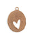 36x26mm Organic Oval Heart Blank - Copper Antique Plated (4 pcs)