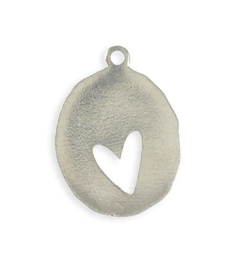 36x26mm Organic Oval Heart Blank (4 pcs)