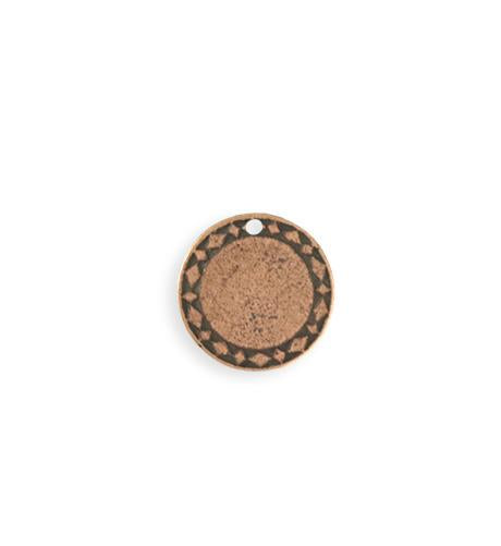 15mm Diamond Circle Blank - Copper Antique Plated (8 pcs)