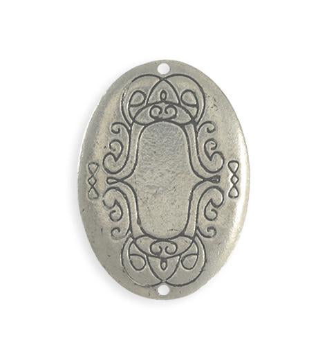 36x26mm  Scrolled Border Oval Blank (4 pcs)
