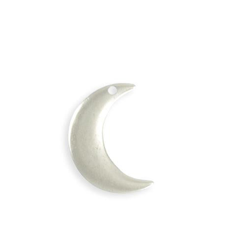 23x19mm Crescent Moon Blank - Sterling Silver Antique Plated (6 pcs)