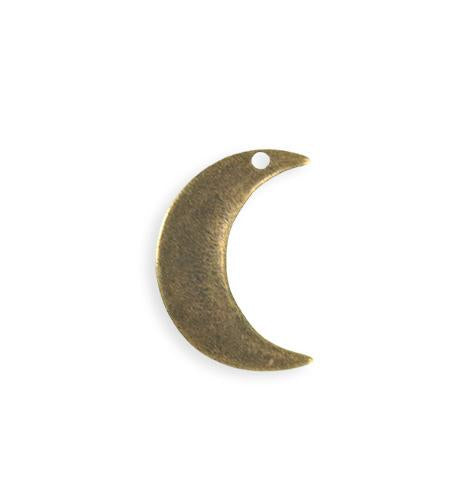 23x19mm  Crescent Moon Blank - Brass Antique Plated (6 pcs)