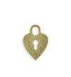 24x17mm Heart Lock Blank - Brass Antique Plated (6 pcs)