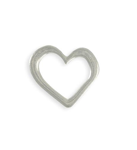 22x23mm Asymmetrical Heart Ring Blank (6 pcs)