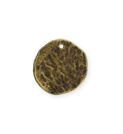 22mm Organic Circle - Brass Antique Plated (5 pcs)