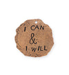 28mm, I Can & I Will - Copper Antique Plated (3pcs)