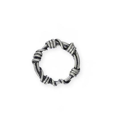 21mm, Wire Wrap Ring - Artisan Pewter (3pcs)