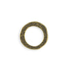 20mm Hammered Ring - Brass Antique Plated (8 pcs)