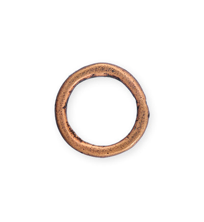 23mm Heavy Hammered Ring - Copper Antique Plated (6 pcs)