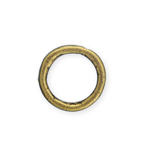 23mm Heavy Hammered Ring - Brass Antique Plated (6 pcs)