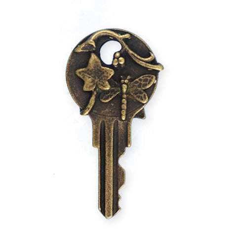 41x22mm, Dragonfly Key - Bronze Antique Plated (3pcs)