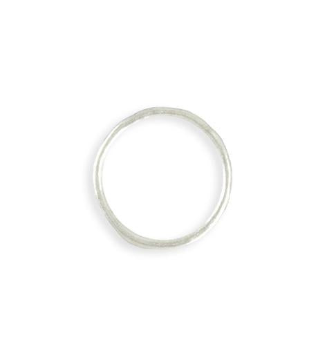 21mm Stacking Ring (Size 8) - Sterling Silver Plated (8 pcs)