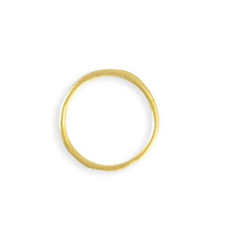 21mm Stacking Ring (Size 8) - 10K Gold Plated (8 pcs)