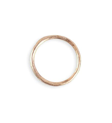 21mm Stacking Ring (Size 8) - Rose Gold Plated (8 pcs)