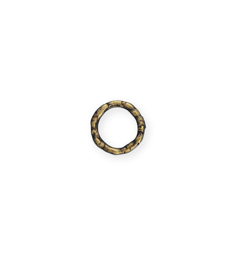 12mm Organic Ring - Brass Antique Plated (20 pcs)