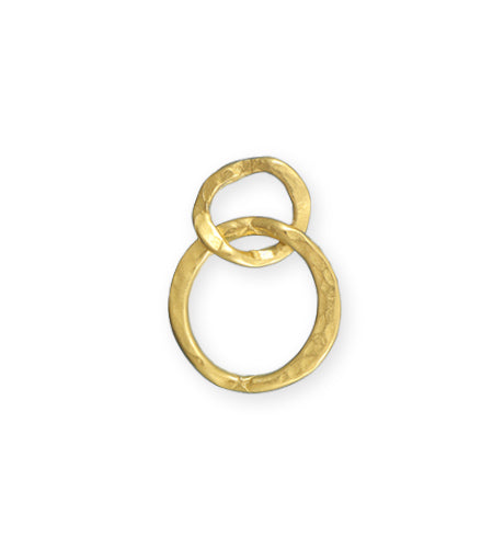 24x17mm Linked Hammered Rings - 10K Gold Plated (8 pcs)