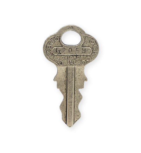 38x21mm, Chicago Key - Pewter Antique Plated (3pcs)