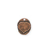17x14mm, Heart Leaf Oval - Copper Antique Plated (3pcs)