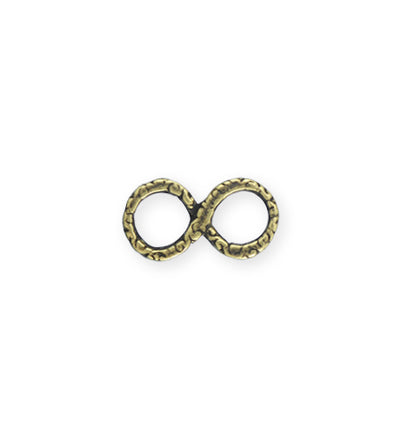 19x10mm, Infinity Swirl - Bronze Antique Plated (6pcs)