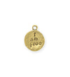19x15mm, I Am Free - 10K Gold Antique Plated (3pcs)