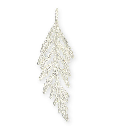 49x15mm, Hanging Fern - Sterling Silver Plated (3pcs)
