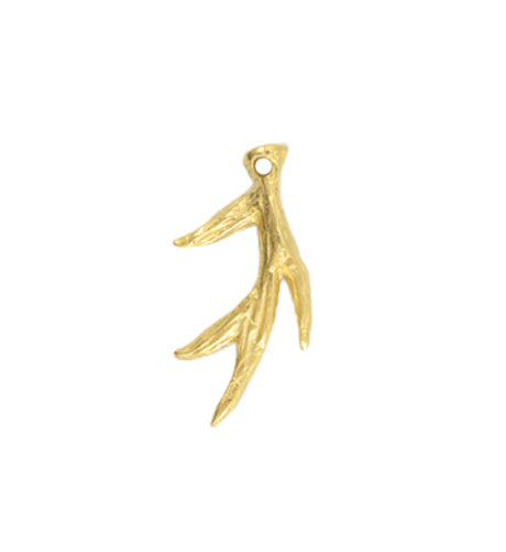 33x18mm, Antler - 10K Gold Plated (3pcs)