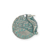 26mm, Make Waves - Pewter Verdigris Plated (3pcs)