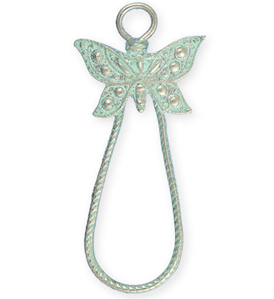 53x24mm, Butterfly Loop - Pewter Turquoise Plated (3pcs)