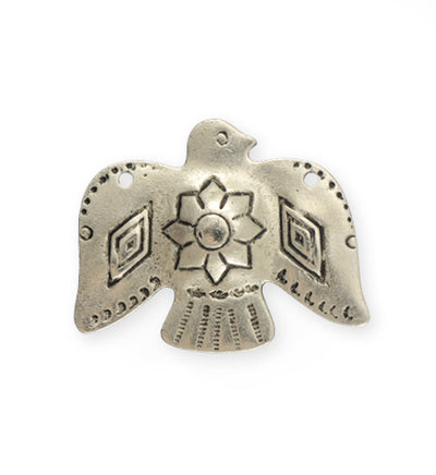 33x26mm, Soaring Phoenix - Pewter Antique Plated (3pcs)